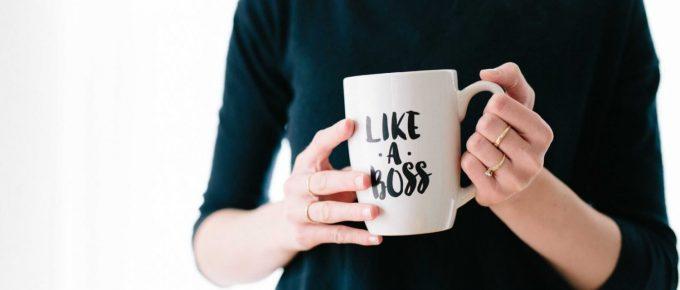Like a boss - Woman running her own business