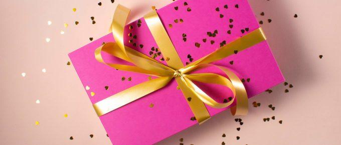 pink present Instagram giveaway