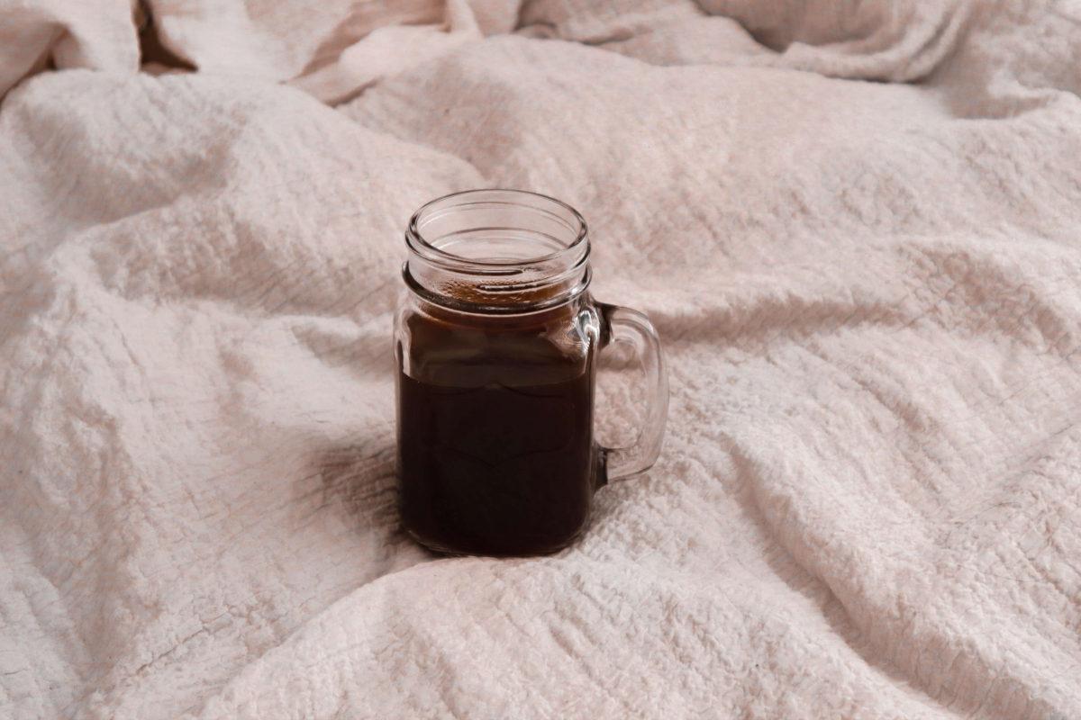 coffee in glass mug