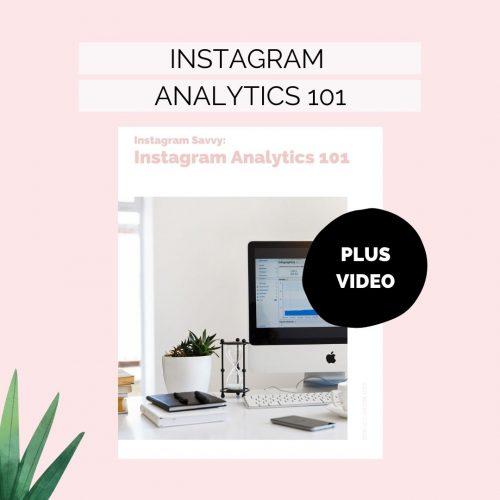 Instagram Analytics 101 ebook and video